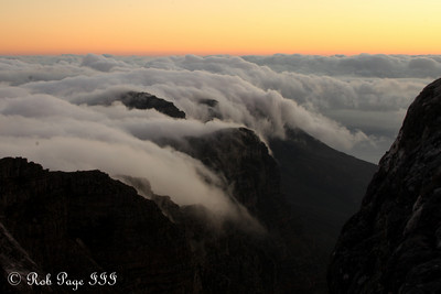 Sunset over the Cape Town mountains - Cape Town, South Africa ... March 11, 2010 ... Photo by Rob Page III